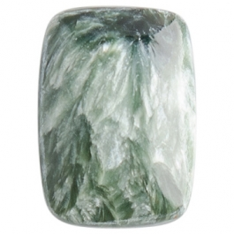 Seraphinite 13x18mm Rectangle Cabochon