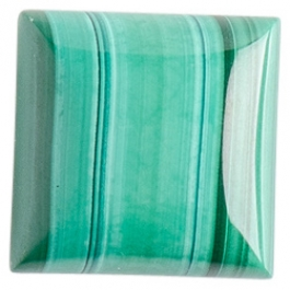 Malachite 12mm Square Cabochon