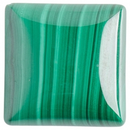 Malachite 20mm Square Cabochon