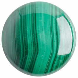 Malachite 25mm Round Cabochon