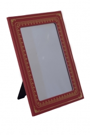8 1/2X6 1/2 Inch Red Leatherette Mirror - Sold Individually