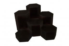 6 pc. Black Velvet Hexagon Riser Set