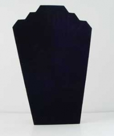 Two Necklace Black Velvet Easel Stand - Pack of 1