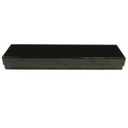 8 X 2 X 7/8 Inch Gloss Black Jewelry Box - Pack of 3