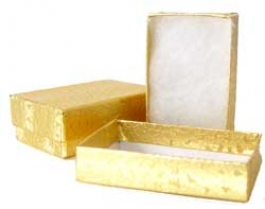 2 1/2 X 1 1/2 X 1 Inches Gold Jewelry Box - Pack of 5