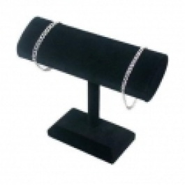 T-Bar (Oval) Black Velvet Bracelet Display