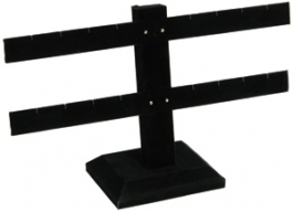 Black Velvet 2 Bar Earring Stand - 8 Pair