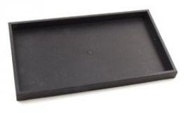 Large 1 Inch Black Plastic Sample Tray