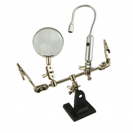 Helping Hand Magnifier with 6 1/2 inch Flexible Light
