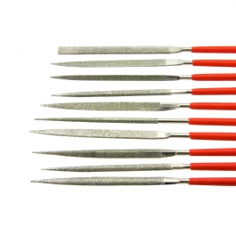 10 Piece Diamond Needle Files - 140mm X 3mm