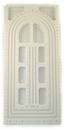 18.5 Inch U-Channel Bead Board with 10 Compartments - Pack of 1