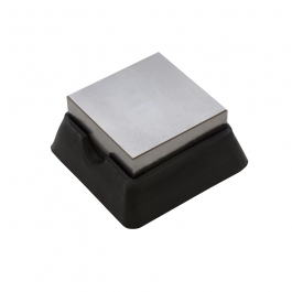 Steel and Rubber Bench Block 2X2 Inches