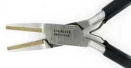 5 1/4 Inch Brass Lined Flat Nose Plier - Pack of 1