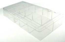 10 Compartment Clear Plastic Organizer Case