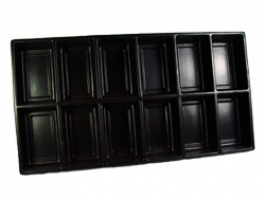 Black Liner Tray 12 Section