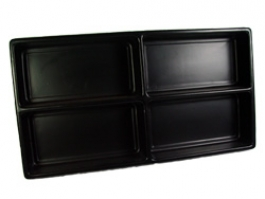 Black Liner Tray 4 Section