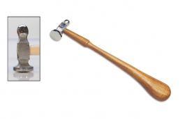 Chasing Hammer with Wooden Handle, 1 1/8 Inch Face