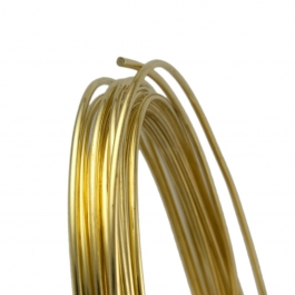 20 Gauge Round Half Hard Yellow Brass Wire - 1 FT