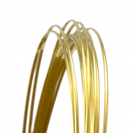 21 Gauge Half Round Half Hard Yellow Brass Wire - 1 FT