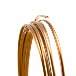 22 Gauge Half Round Half Hard Copper Wire - 1 FT