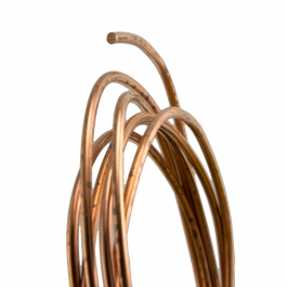 24 Gauge Round Half Hard Copper Wire - 1 FT