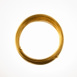 12 Gauge Gold Anodized Aluminum Wire - 39ft