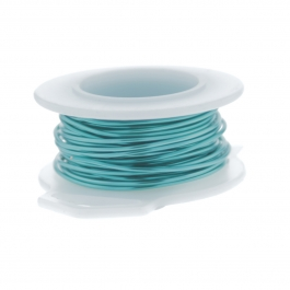 26 Gauge Round Silver Plated Pacific Blue Copper Craft Wire - 90 ft