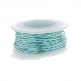 26 Gauge Round Silver Plated Sea Foam Copper Craft Wire - 90 ft