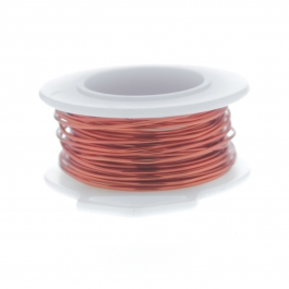 20 Gauge Round Silver Plated Orange Copper Craft Wire - 25 ft