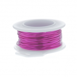 30 Gauge Round Silver Plated Fuchsia Copper Craft Wire - 90 ft