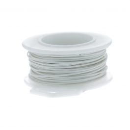 32 Gauge Round Silver Plated Antique White Copper Craft Wire - 90 ft
