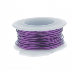 24 Gauge Round Silver Plated Amethyst Copper Craft Wire - 30 ft