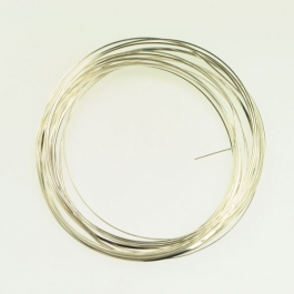 18 Gauge Half Round Silver Plated Silver Copper Craft Wire - 12 ft