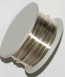21 Gauge Half Round Silver Plated Silver Copper Craft Wire - 12 ft