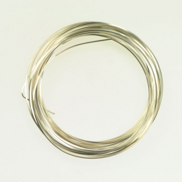 21 Gauge Square Silver Plated Silver Copper Craft Wire - 12 ft