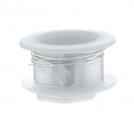 24 Gauge Round Silver Plated Silver Copper Craft Wire - 30 ft