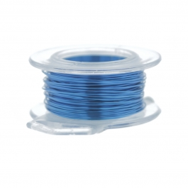 24 Gauge Round Silver Plated American Blue Copper Craft Wire - 60 ft