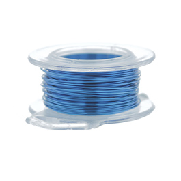 26 Gauge Round Silver Plated American Blue Copper Craft Wire - 90 ft