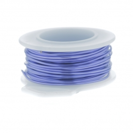 22 Gauge Round Silver Plated Lavender Copper Craft Wire - 24 ft