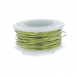 26 Gauge Round Silver Plated Peridot Copper Craft Wire - 90 ft