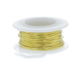 20 Gauge Round Silver Plated Yellow Copper Craft Wire - 25 ft