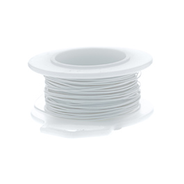 28 Gauge Round Silver Plated Ultra White Copper Craft Wire - 45 ft