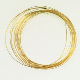 18 Gauge Half Round Silver Plated Gold Copper Craft Wire - 12 ft