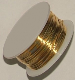 21 Gauge Half Round Silver Plated Gold Copper Craft Wire - 12 ft