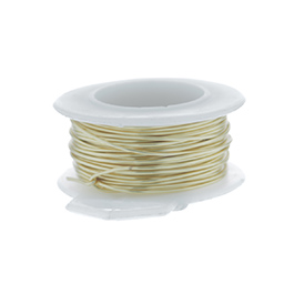 26 Gauge Round Silver Plated Gold Copper Craft Wire - 90 ft