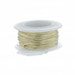 32 Gauge Round Silver Plated Gold Copper Craft Wire - 90 ft
