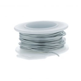 20 Gauge Round Silver Plated Titanium Copper Craft Wire - 25 ft