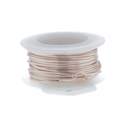 28 Gauge Round Silver Plated Rose Gold Copper Craft Wire - 45 ft