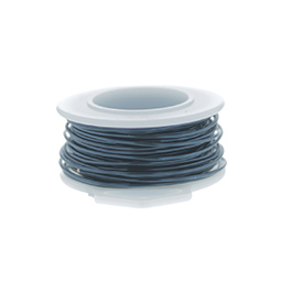26 Gauge Round Silver Plated Blue Steel Copper Craft Wire - 90ft