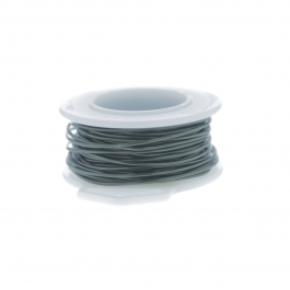 16 Gauge Round Silver Plated Hematite Copper Craft Wire - 15ft